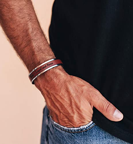Anniversary Gift For Husband Mens Leather bracelet Cuff Gift For Men Customized On Your Wrist Bracelet For Him For Boyfriend