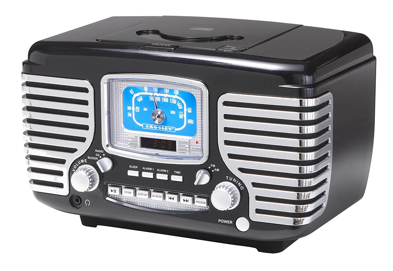 クラウスレイラジオCr612-BKコルセア目覚まし時計/ラジオ/CD(ブラック) 並行輸入 B000FMV4TY
