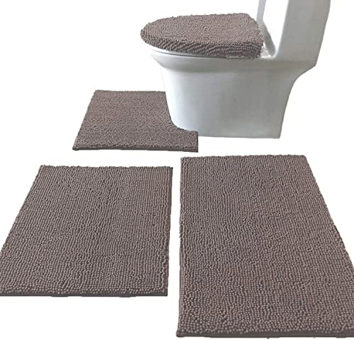 Madeals 4 Piece Bathroom Rug Set