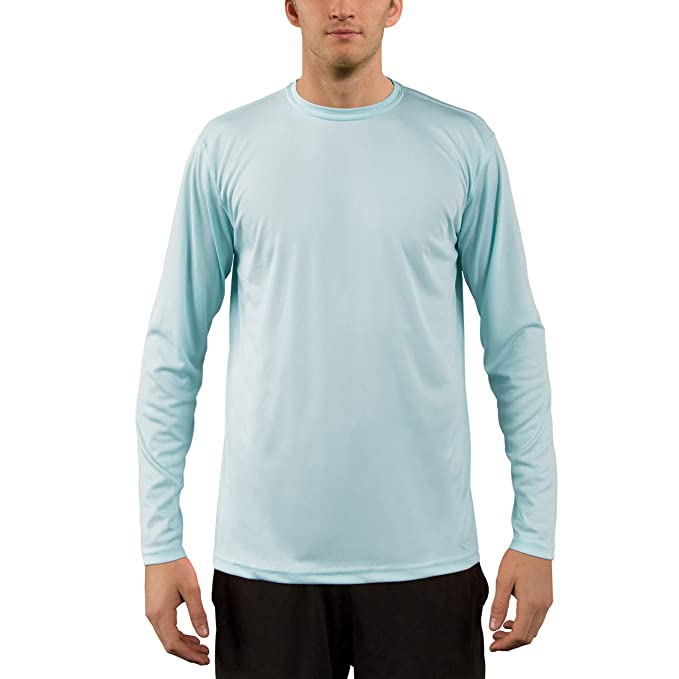 f684f54c19f Vapor Apparel Men's UPF 50+ UV Sun Protection Performance Long Sleeve T- Shirt X
