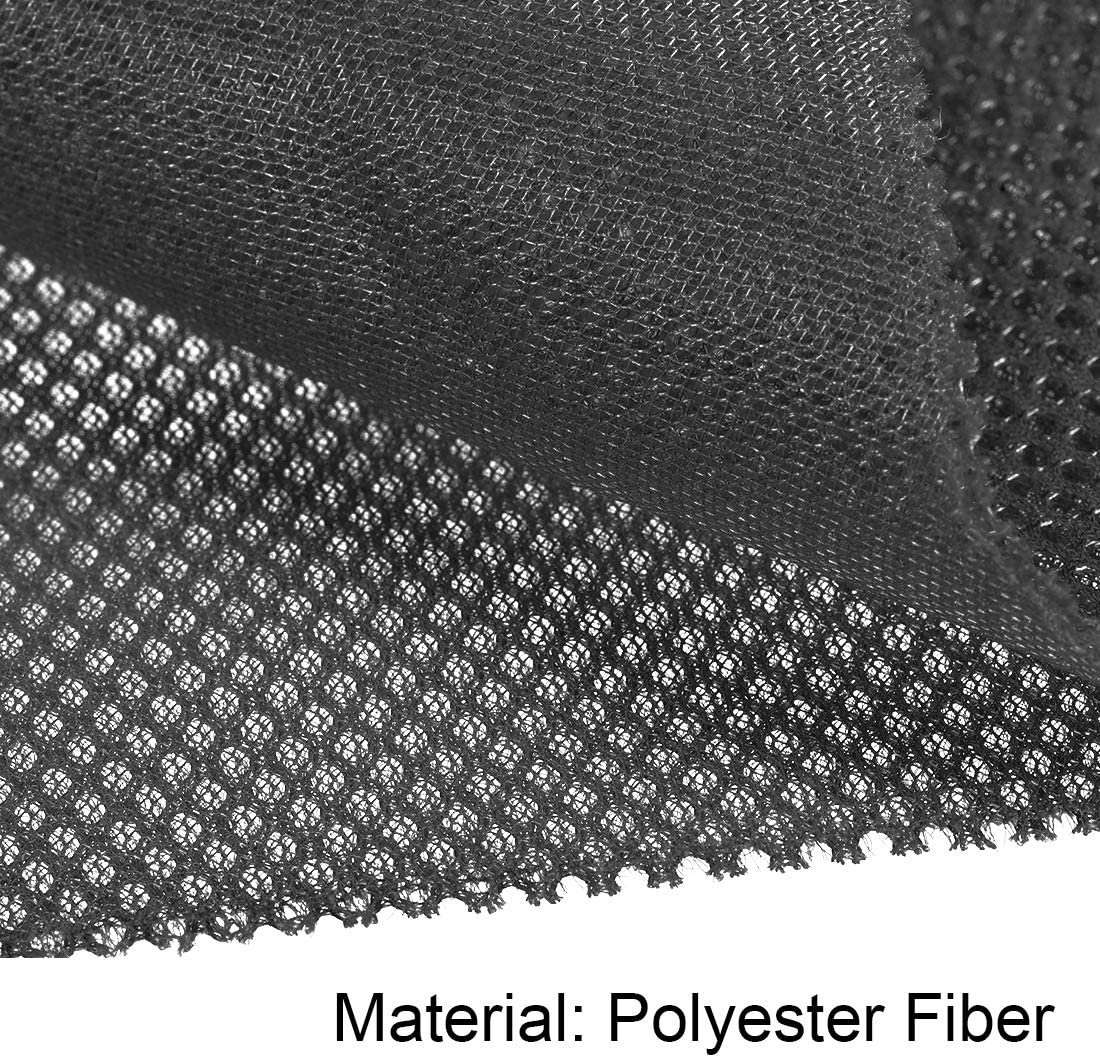 uxcell Speaker Grill Cloth 1x1.45 Meters 39x57 Inch Polyester Fiber Dustproof Stereo Mesh Fabric for Repair DIY Dark Gray