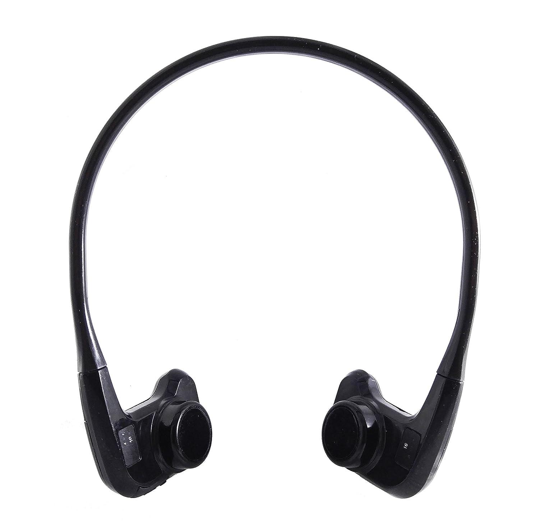 kikuphones abierto auriculares | Bone conducción + resistente al agua + Wireless (negro): Amazon.es: Electrónica