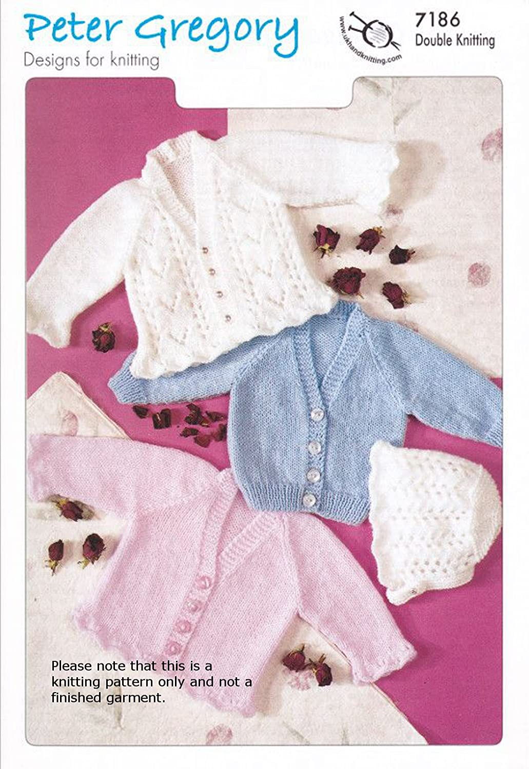 Baby double knitting pattern pg 7186 cardigans and bonnet baby baby double knitting pattern pg 7186 cardigans and bonnet baby product amazon kitchen home bankloansurffo Choice Image