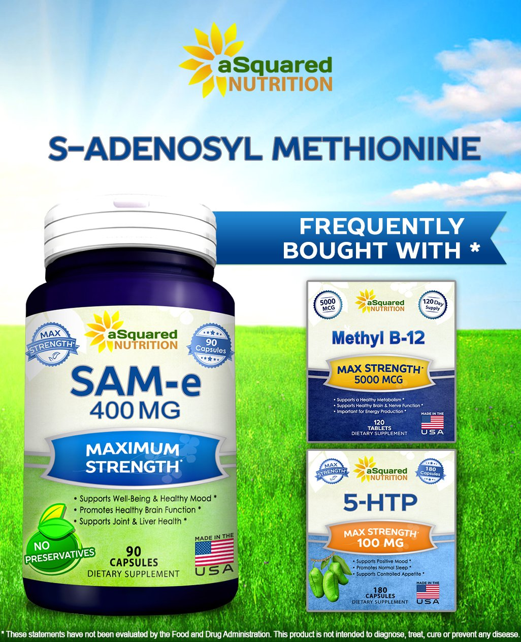 Pure Sam E 400mg Supplement 90 Capsules Same S Nutrimax Healthy Joint 60 Tablet Adenosyl Methionine To Support Mood Health And Brain Function Extra Strength