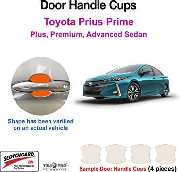 Sedan XSE Hybrid LE LE XLE L SE 6MT YelloPro Custom Fit Door Handle Cup 3M Scotchgard Anti Scratch Clear Paint Protector Film Cover Self Healing PPF Guard Kit for 2020 2021 Toyota Corolla SE