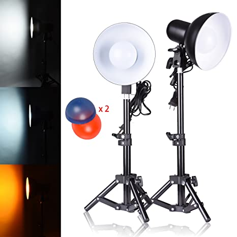 Amazon Com Emart 2 X 15w Table Top Photography Studio Led Lighting