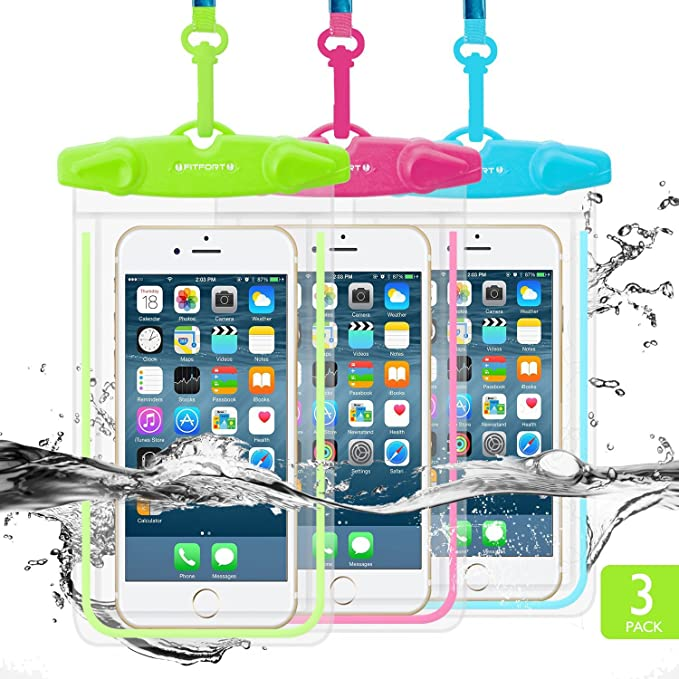 FITFORT Funda impermeable universal para iPhone 7/6/6S Plus/5/5s ...