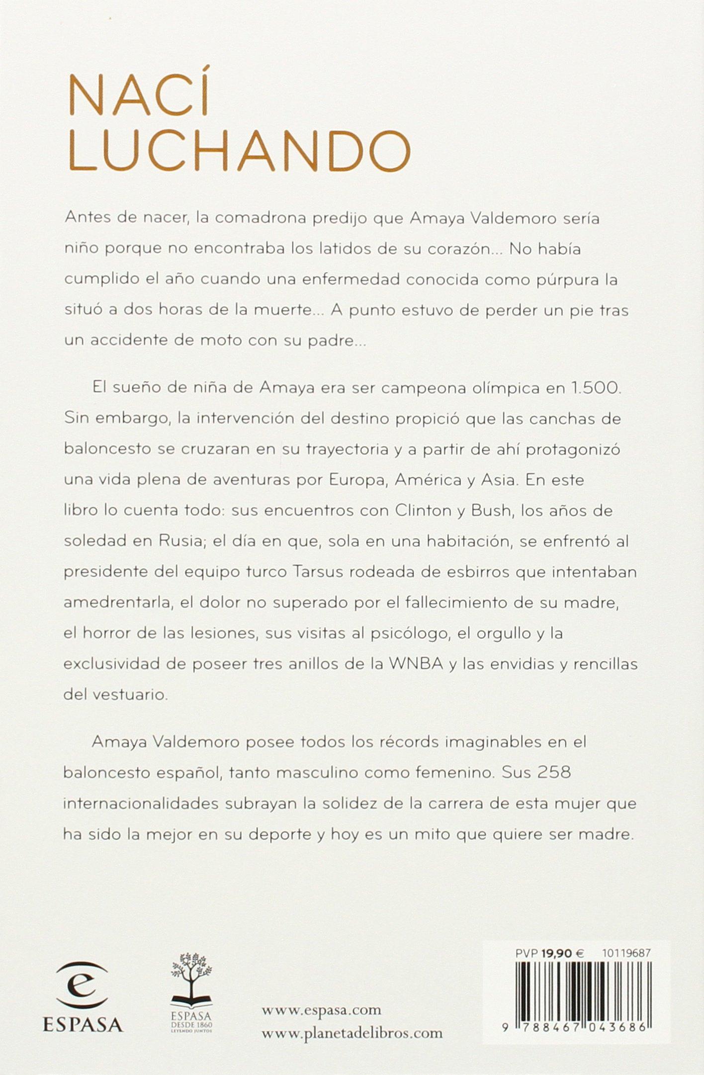Nací luchando (Fuera de colección): Amazon.es: Valdemoro, Amaya ...
