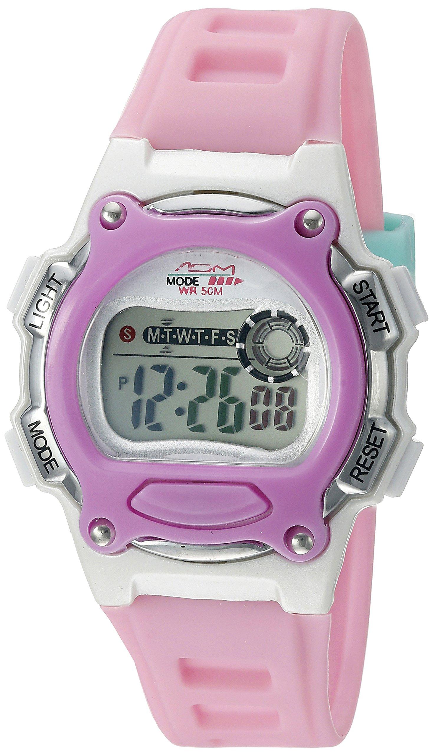 American Design Machine Jr. Kids' ADSG 5002 PUR Madison Digital Display Japanese Quartz Pink Watch
