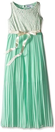 Emerald Sundae Vestido Plisado Para Niña Marfilverde