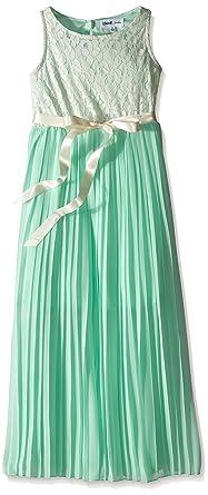 cfa1d0aa6 Amazon.com: Emerald Sundae Girls' Pleated Maxi Dress: Clothing