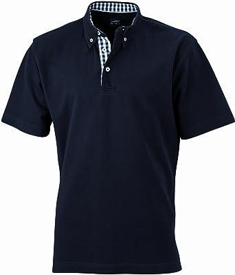 James & Nicholson Herren Poloshirt Poloshirt Men's Plain schwarz (black/ black-white)