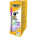 BiC Cristal Fun - Pack de 20 bolígrafos, tinta multicolor