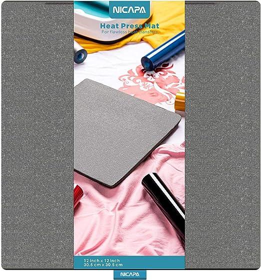 Nicapa - Adhesivo de repuesto para alfombrilla de corte Cricut Gris Heat Press Mat 12*12: Amazon.es: Hogar