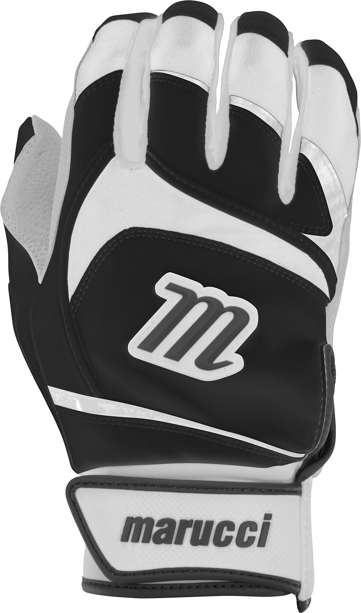 Marucci Youth Signature Baseball Batting Gloves, Black, Medium