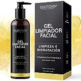 Gel Limpiador Facial con Vitamina C + Vitamina E + Aloe Vera - 80% Ingredientes Naturales- Limpiador Profundo Facial - Remuev
