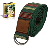 Ziloda Unique 8ft D-Ring Buckle Yoga Strap - Super Strong - For Stretching & Flexibility - Especially Suitable for Yoga/ Pilates Beginners - Best gift for yogi - Free Ebook