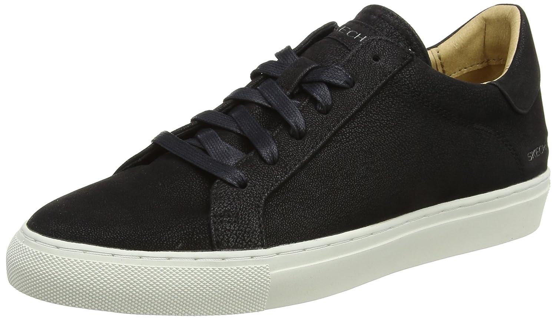 Skechers Womens Vaso - Lace-up Sneaker B01NCKH3JZ 6 B(M) US|Black