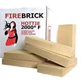 Fire Brick Kit of 6 replacements for stoves, fire pits and pizza ovens