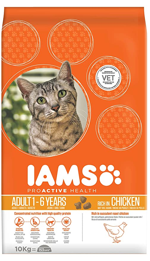 IAMS Proactive Health Adult Rich In Chicken Comida para Gatos - 10000 gr