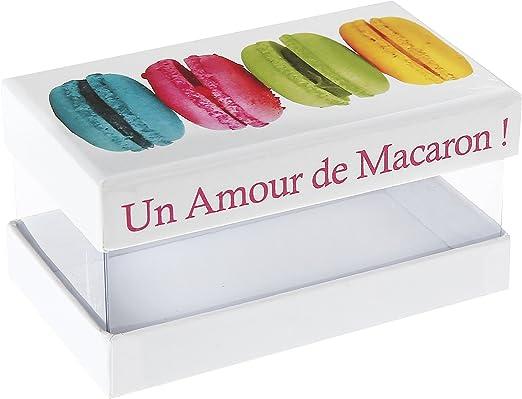 Santex 4899–99 Caja de cartón para Macarons, diseño de Estampado de Macarons con Texto en francés, 17 x 16 x 5 cm, Multicolor: Amazon.es: Hogar