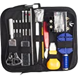 Uhrenwerkzeug Set , JELEGAN Professional 147tlg Uhrmacherwerkzeug Uhr Werkzeug Tasche Reparatur Watch Tools Kit Case