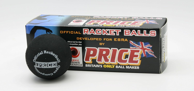 Price - Balle de Racketball - Expert - Deux Points - Fabriqué au Royaume Uni - Normes ESRA PRICE OF BATH