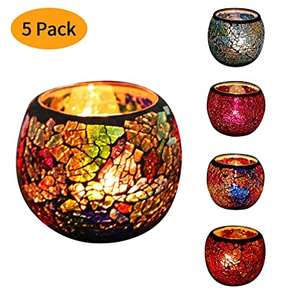 savorliving candle holders decorative tealight holders glass lantern holders decoration for wedding churches dinner halloween - Christmas Candle Holders Decorations