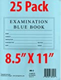 """TestingForms.com 8.5"""" x 11"""" Examination Blue Book 8"""