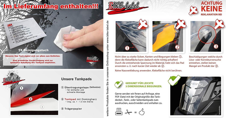 Protector de Pintura para dep/ósitos de Motocicletas Color Rosa ne/ón Bike Label 502591