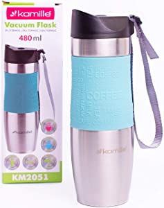 Kamille Coffee Tumbler Stainless Steel Coffee Travel Mug - Double Wall Thermal Vacuum Insulated Coffee Cup with Lid for Cold, Ice Drinks and Hot Beverage
