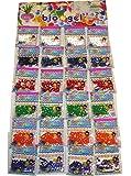 TEC UK Lot de 24sachets de billes en gel pour créer des perles d'eau Effet cristallin Idéal pour la décoration de vases de mariage