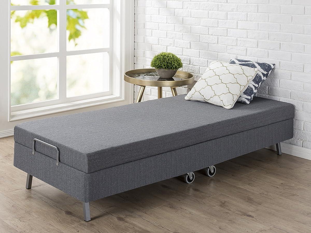 "Zinus Memory Foam Resort Folding Guest Bed with Wheels, Narrow Twin/30"" x 75"""
