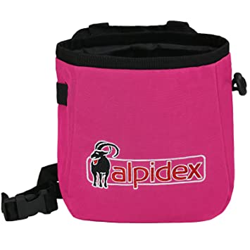 ALPIDEX Bolsa de Magnesia Chalk TO ME con cinturón Incluido, Color:Pink Power: Amazon.es: Deportes y aire libre