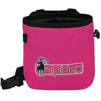 ALPIDEX Bolsa de Magnesia Chalk TO ME con cinturón Incluido, Color:Pink Power: Amazon.es: Deportes y aire libre