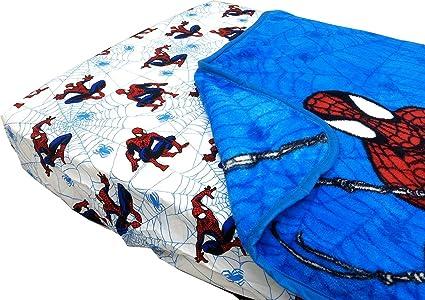 Spider-Man Webslinger Toddler Bed Fitted Sheet Blanket Set