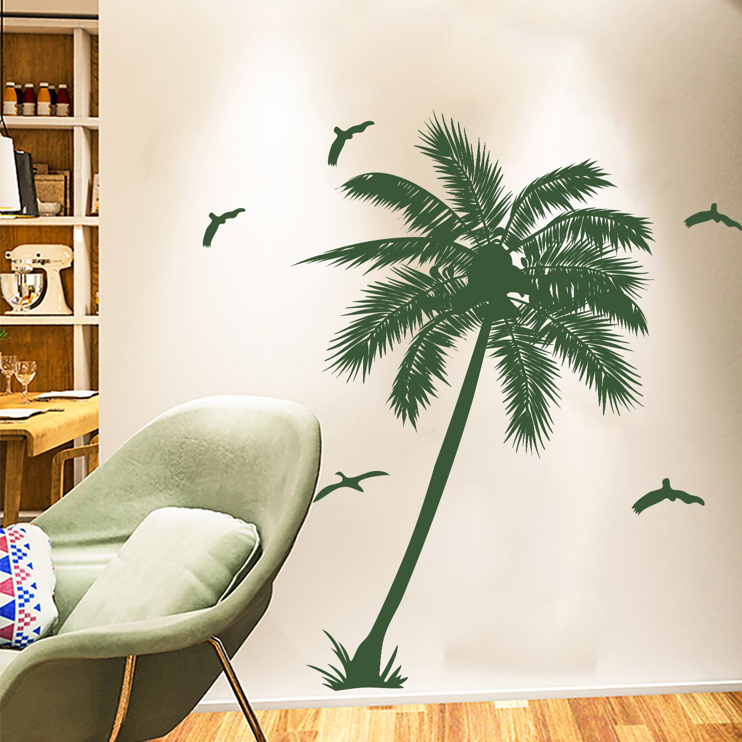 Amazon.com: DecalMile Palm Tree Wall Decals Decorative Removable ...