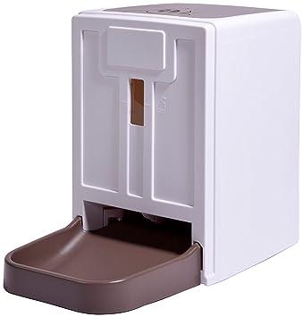dobar 50131 Grande automático Forro automática para Perros y Gatos, programable Forro dispensador con Mensaje de Voz, Color Blanco: Amazon.es: Productos ...
