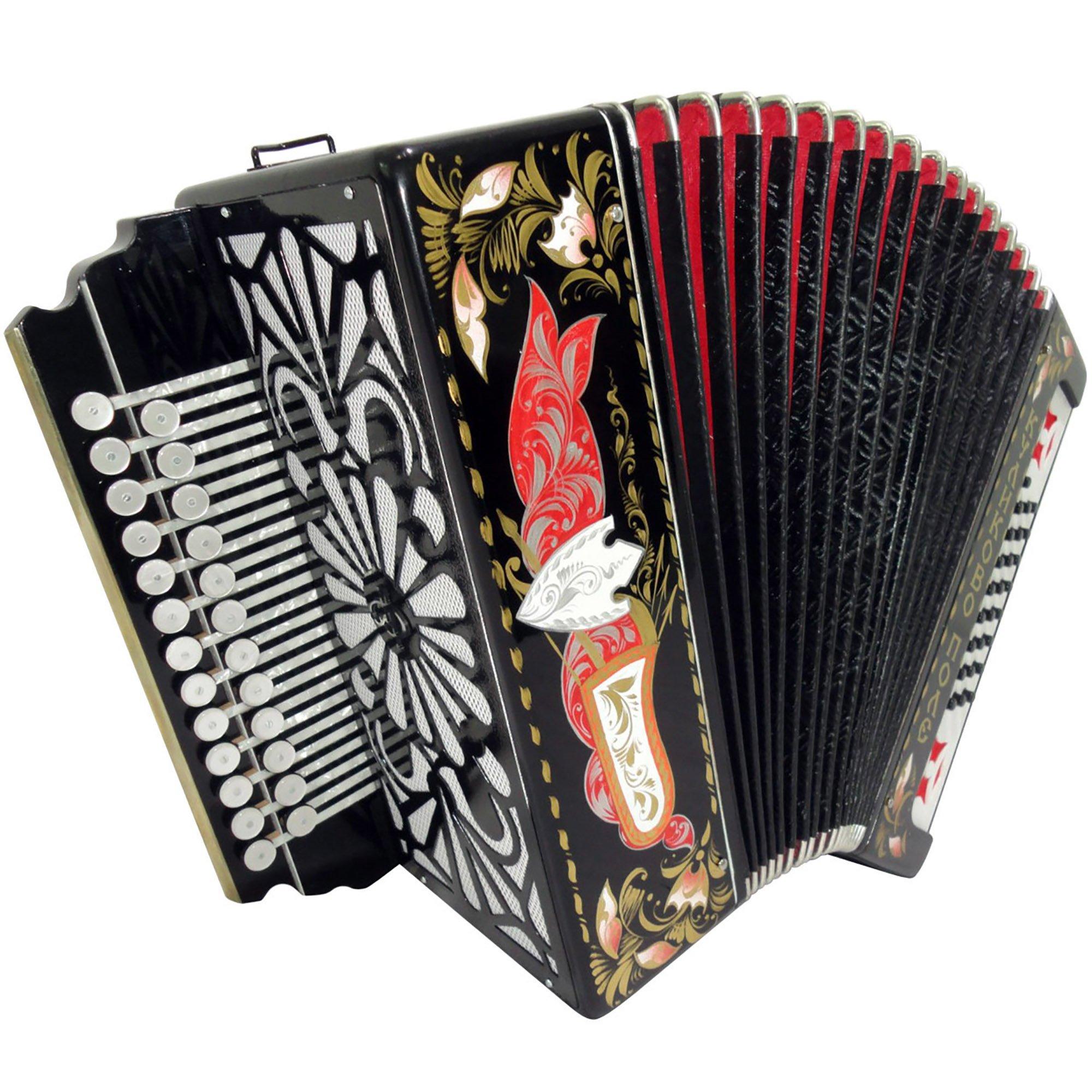 Brand New Russian Tulskaya Garmon Kulikov Field, Kulikovo Pole, Tula Harmonika, Button Accordion, High-class Musical Instrument, 3-tonal, 2 Rows 25x25 G 3 by Tulskaya Garmon