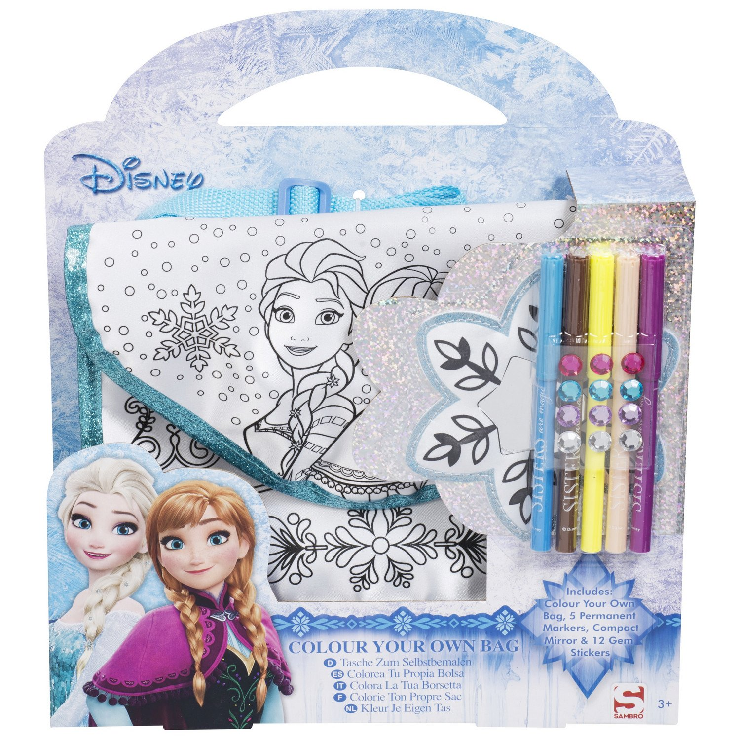 Craft Set Markers,GEM Stickers,Mirror My Little Pony Colour Your Own Totebag