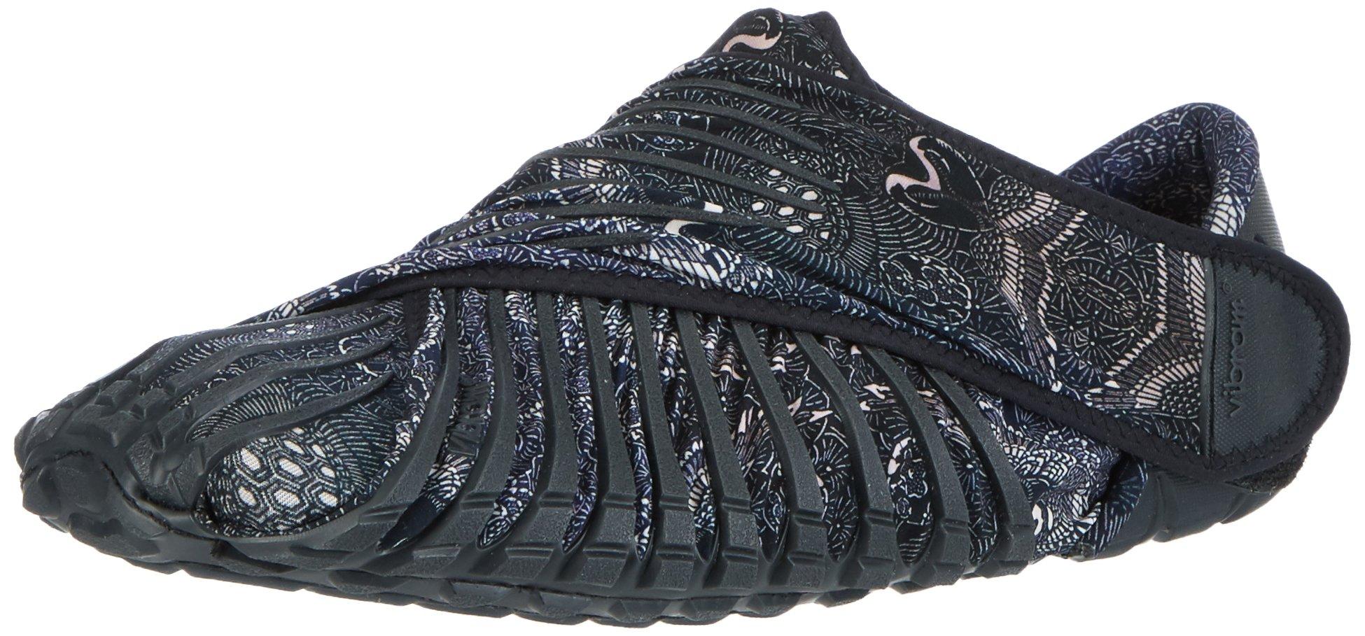 Vibram Men's and Women's Furoshiki Gru Sneaker, Black Paisley, EU:42-43/UK MAN:8-9/UK WOMAN:9-10.5/cm:26.5-27.5/US MAN:9-10/US WOMAN:10-11.5