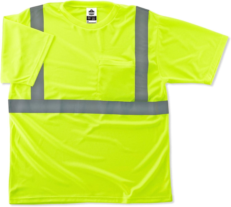2XL GloWear 8289 ANSI High Visibility Lime Reflective T-Shirt
