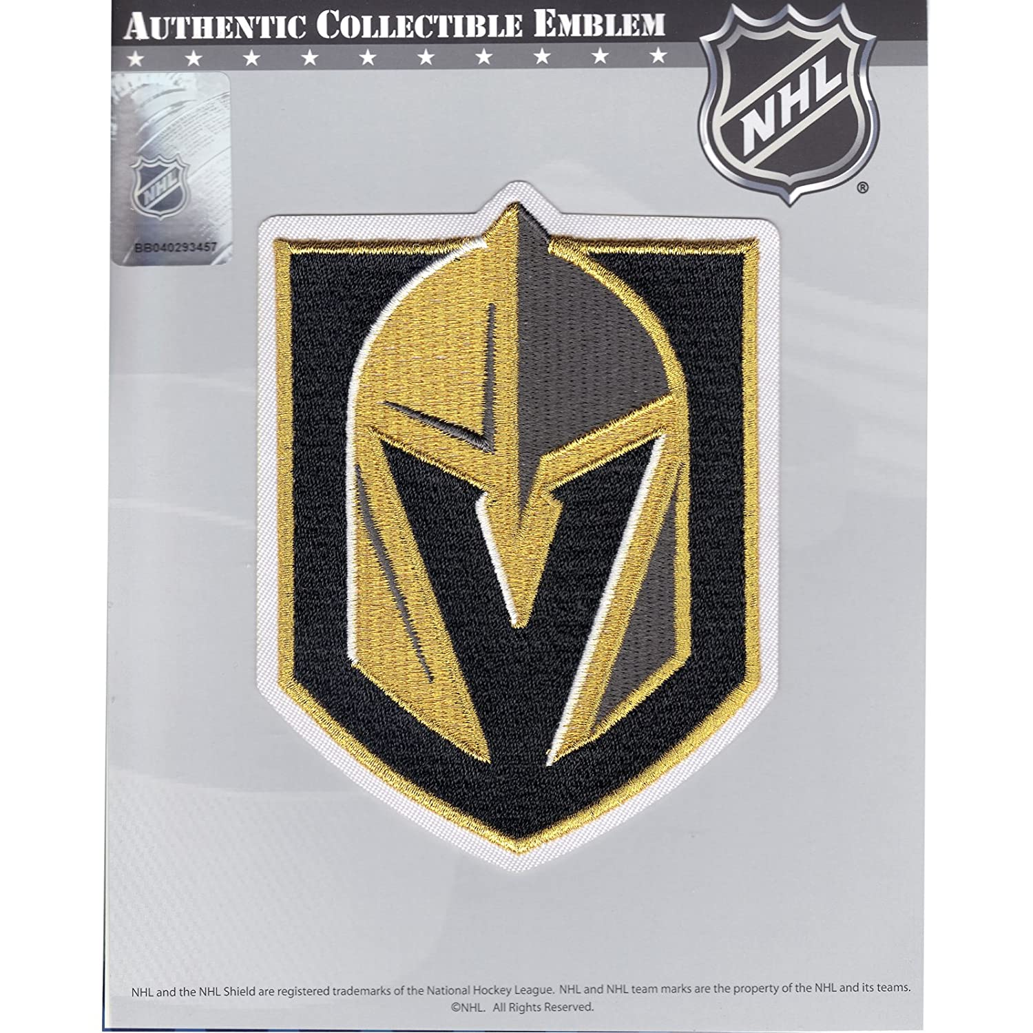 Amazon Com Las Vegas Golden Knights Primary Nhl Team Logo Embroidered Hockey Jersey Patch Sports Outdoors