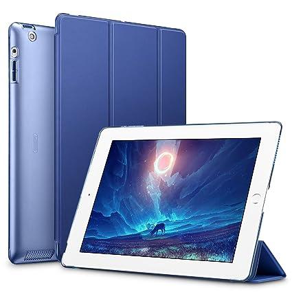 esr Funda para iPad 2/3/4 [Auto-Desbloquear] Función de Soporte [Botones Protegidos] Carcasa Ligera Antigolpes de Cuero Sintético y Plástico Duro ...