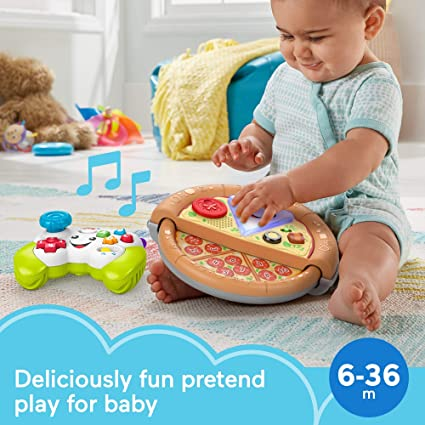 Exclusive Fisher-Price Laugh /& Learn Game and Pizza Party Gift Set of 2 toys with lights music and learning content for baby and toddlers ages 6-36 months
