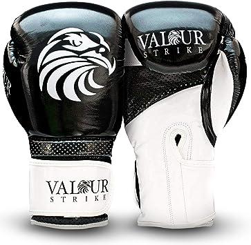 lentra/înement Le Combat Valour Strike Gants de Boxe Le MMA Le Muay Thai Les Boxeurs Convient pour la Boxe Noir 4oz Les Arts Martiaux 16oz Le poin/çonnage Le Kickboxing