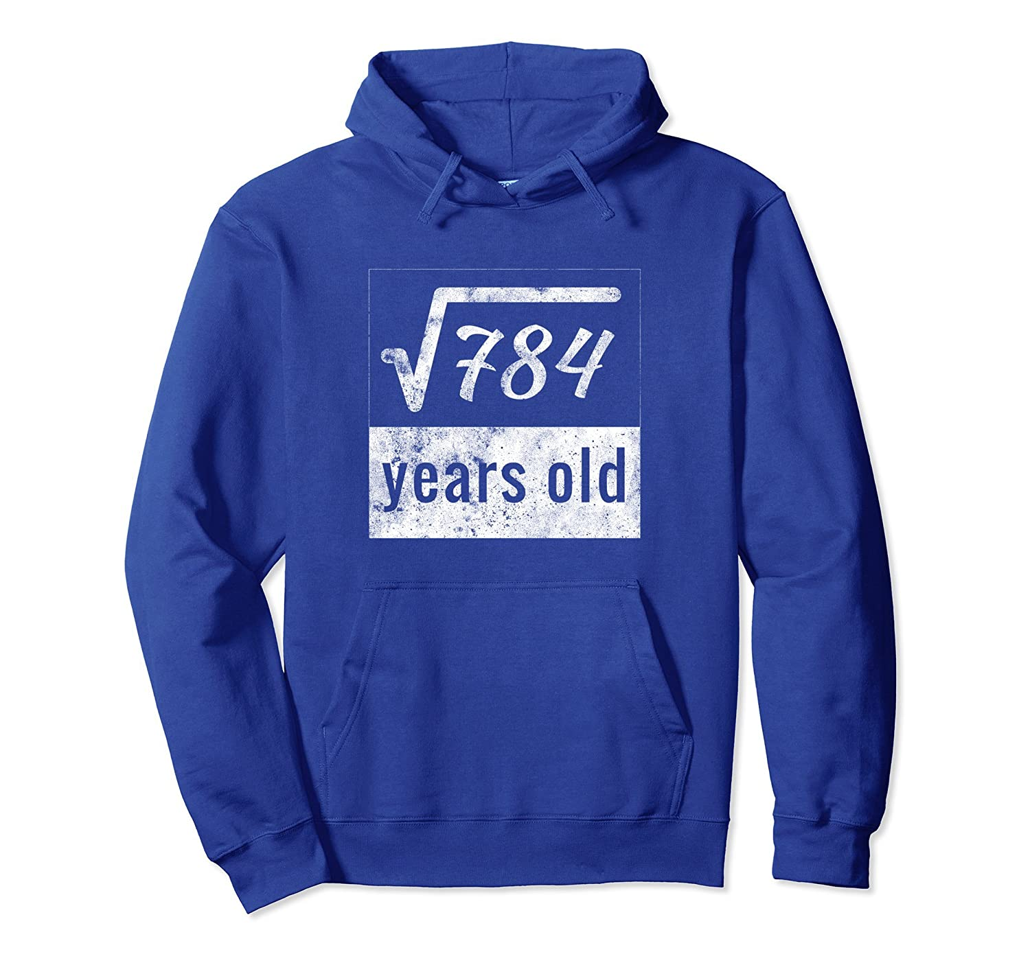 28th Birthday Gift Hoodie Square Root of 784 28 Years Old-azvn