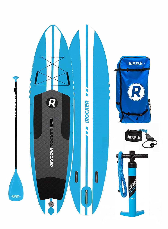 Paquete SUP de tabla de surf de remo hinchable iROCKER ALL-AROUND, 11 largo, 32
