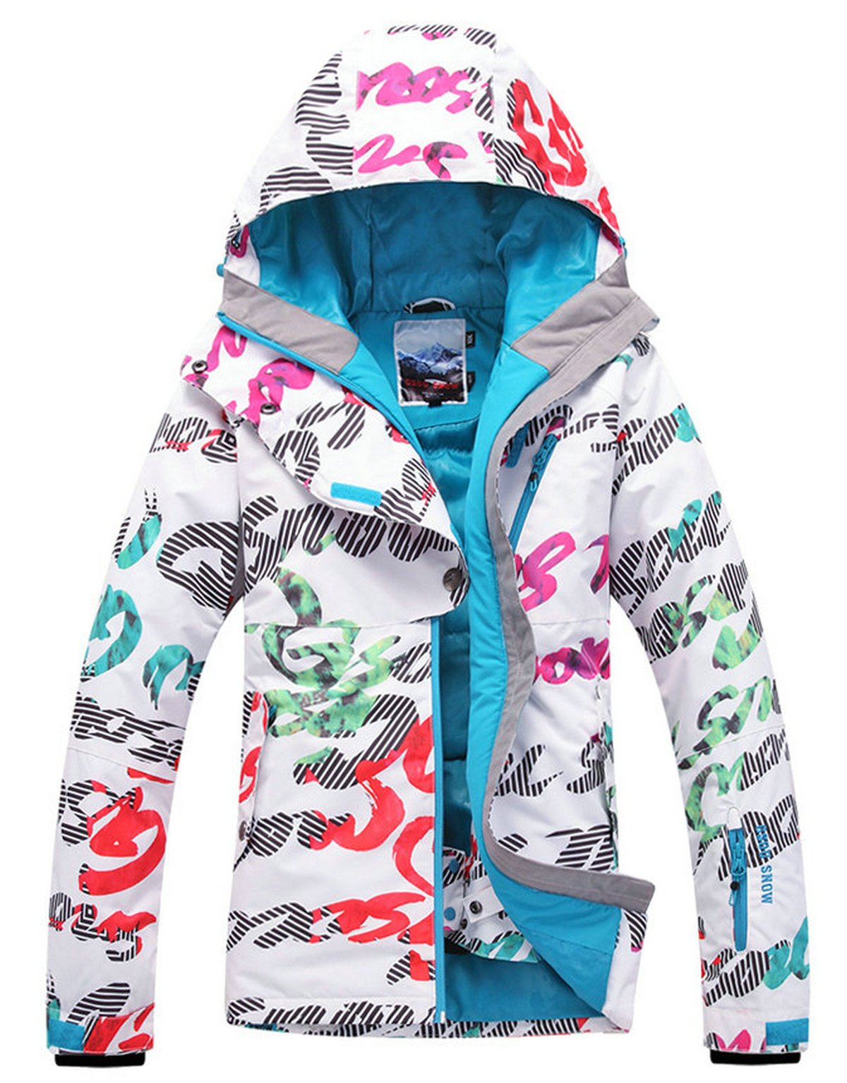 APTRO Women's High Windproof Technology Colorfull Printed Ski Jacket Style #11 Size S