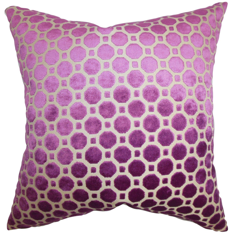 The Pillow Collection Kostya Geometric Bedding Sham Purple European/26 x 26',